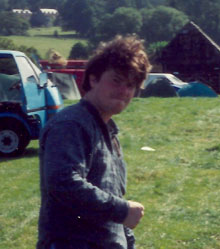 Richard Tomes in a field somewhere